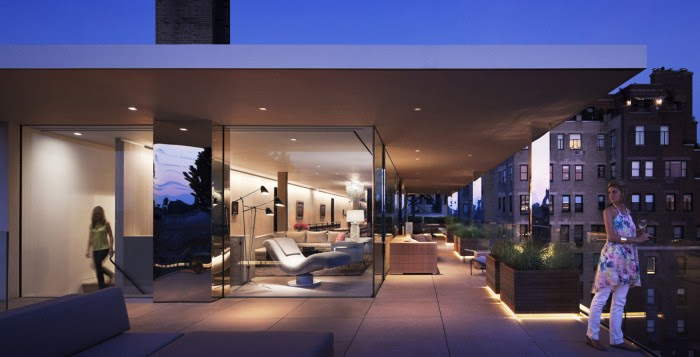 When modern materials of glass, concrete and steel are prevalent in a home's architecture and interior, the addition of living greenery softens the hardness of these elements and blurs the lines between manmade structure and nature.