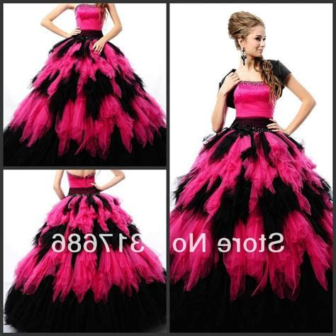 Hot pink and black wedding dresses   wedding dresses