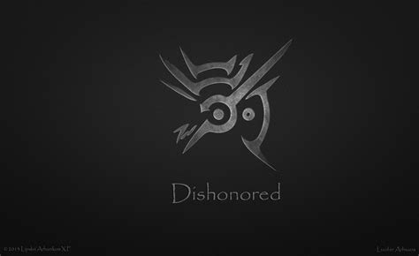 dishonored minimalism grey symbol arhanikum word hd wallpaper