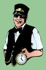 Train driver job graphics