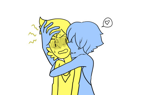 Anonymous said: I Have to say I love your art so much! and if you have time can you have yellow Pearl in a suit giving a flower to blue Pearl? Answer: (◕‿◕✿)