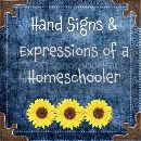 Hand Signs and Expressions of a Homeschooler