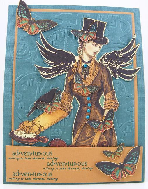 Steampunk Adventous Card