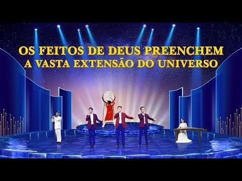 """Música cristã """"Os feitos de Deus preenchem a vasta extensão do universo"""""""