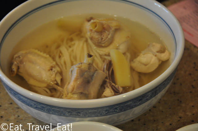 Chicken Noodle Soup with Soup in Bowl