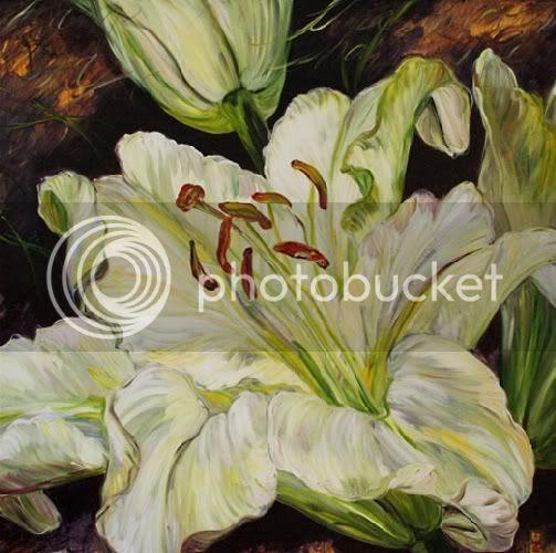 bobbie burgers,provence,florals,painting