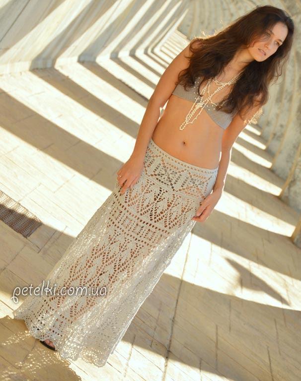 Falda sirena de SexyCrochet.  Descripción Esquema