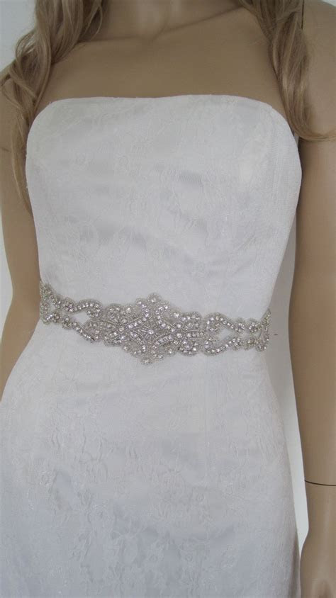 Wedding belt sash rhinestone crystal bridal sashes jeweled