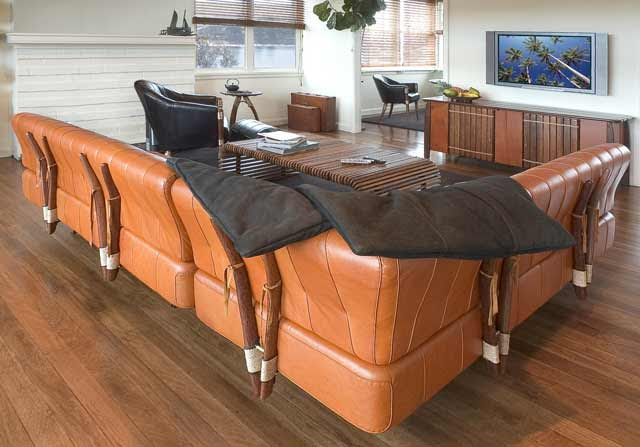 pacific green coconut palm sectional