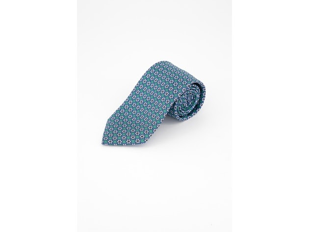 Tommy Hilfiger Men's Classic Snowflake Neat Silk Twill Tie Green One Size for $94