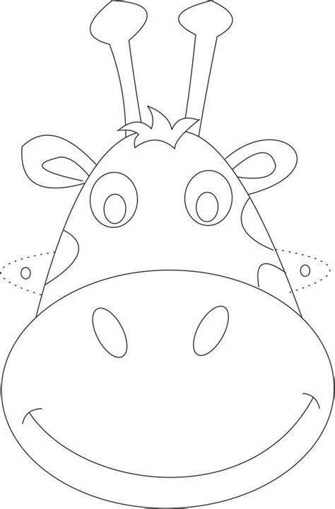 printable animal masks coloring pages