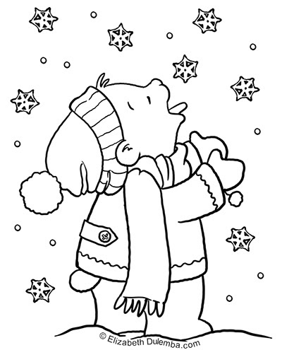 coloring pages weather snowy - photo#48