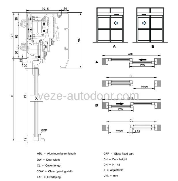 horton sliding door installation manual