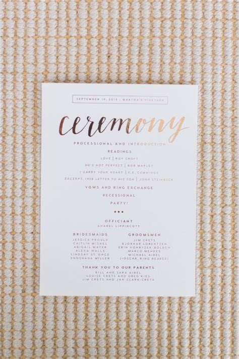 Best 25  Wedding programs simple ideas on Pinterest