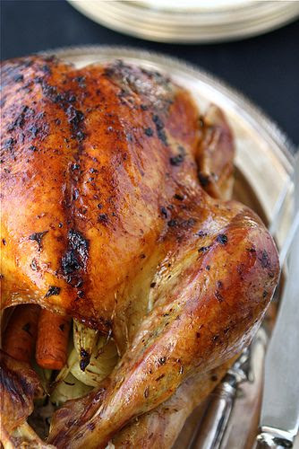 A no-fail recipe! Roasted Turkey with Herb Butter & Roasted Shallots | cookincanuckc.om #Thanksgiving