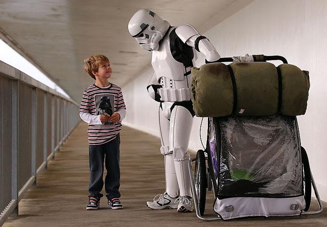 Man Walking Across Australia in Stormtrooper Armor