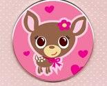Deery Me - hot pink - Pocket Mirror