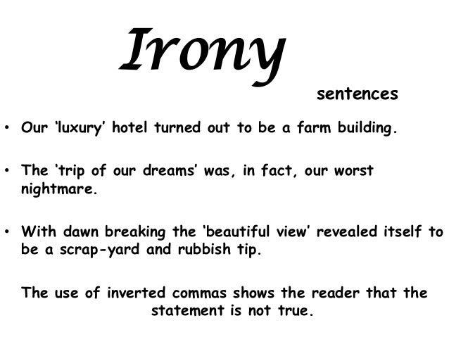 5 examples of irony