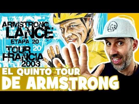 """TDF2003 """"LA LLEGADA A PARÍS DEL 5º TOUR DE ARMSTRONG"""" - Tour de Francia 2003. Etapa 20 - Alfonso Blanco"""