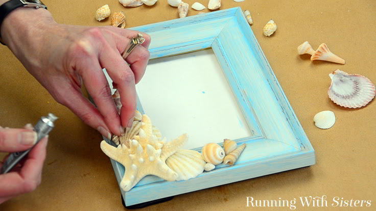 How To Make A Seashell Frame Running With Sisters