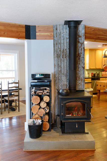 Looking For Rear Stove Pipe Guard Ideas Behind A Wood Heater