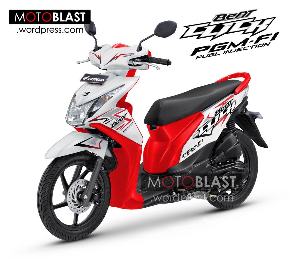 91 Gambar Modifikasi Motor Beat Merah Putih Terlengkap Kempoul Motor