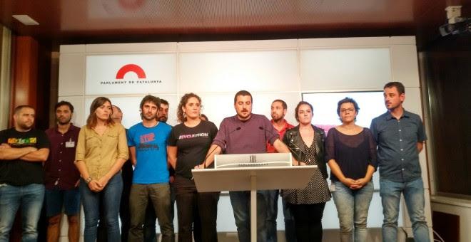 Los miembros de la CUP proponen un pleno monográfico para alcanzar la proclamación de la república catalana./EUROPA PRESS