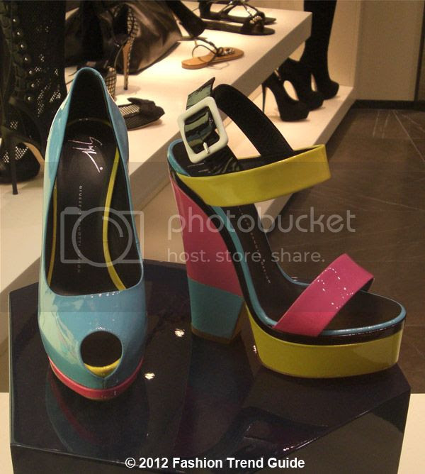 Giuseppe Zanotti colorblock wedges, Las Vegas shopping
