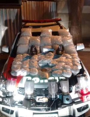 Operação prendeu um por tráfico de drogas (Foto: Divulgação/Polícia Militar)