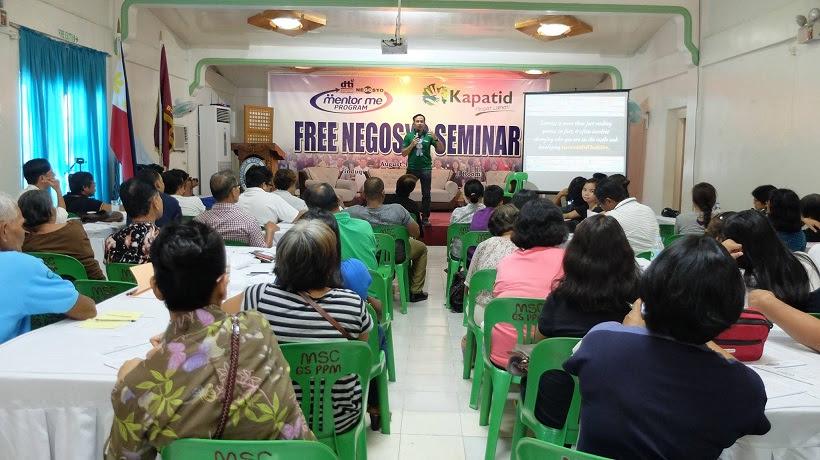 DTI Go Negosyo Kapatid Mentor Me Program in Marinduque