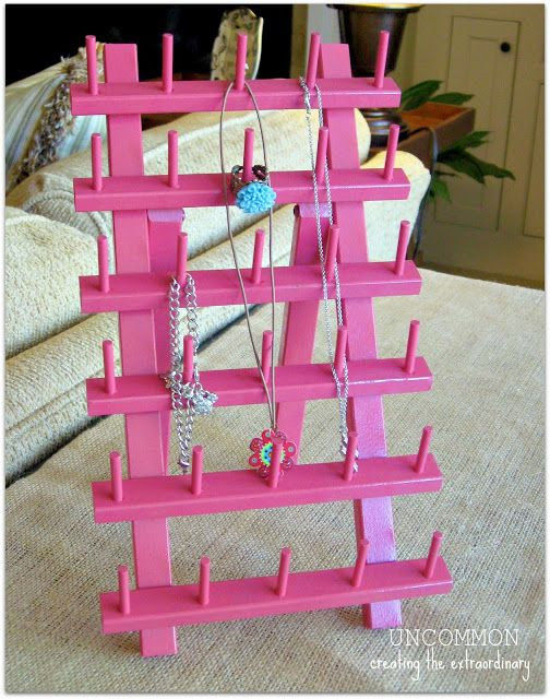 Jewelry Holder from Thread Rack