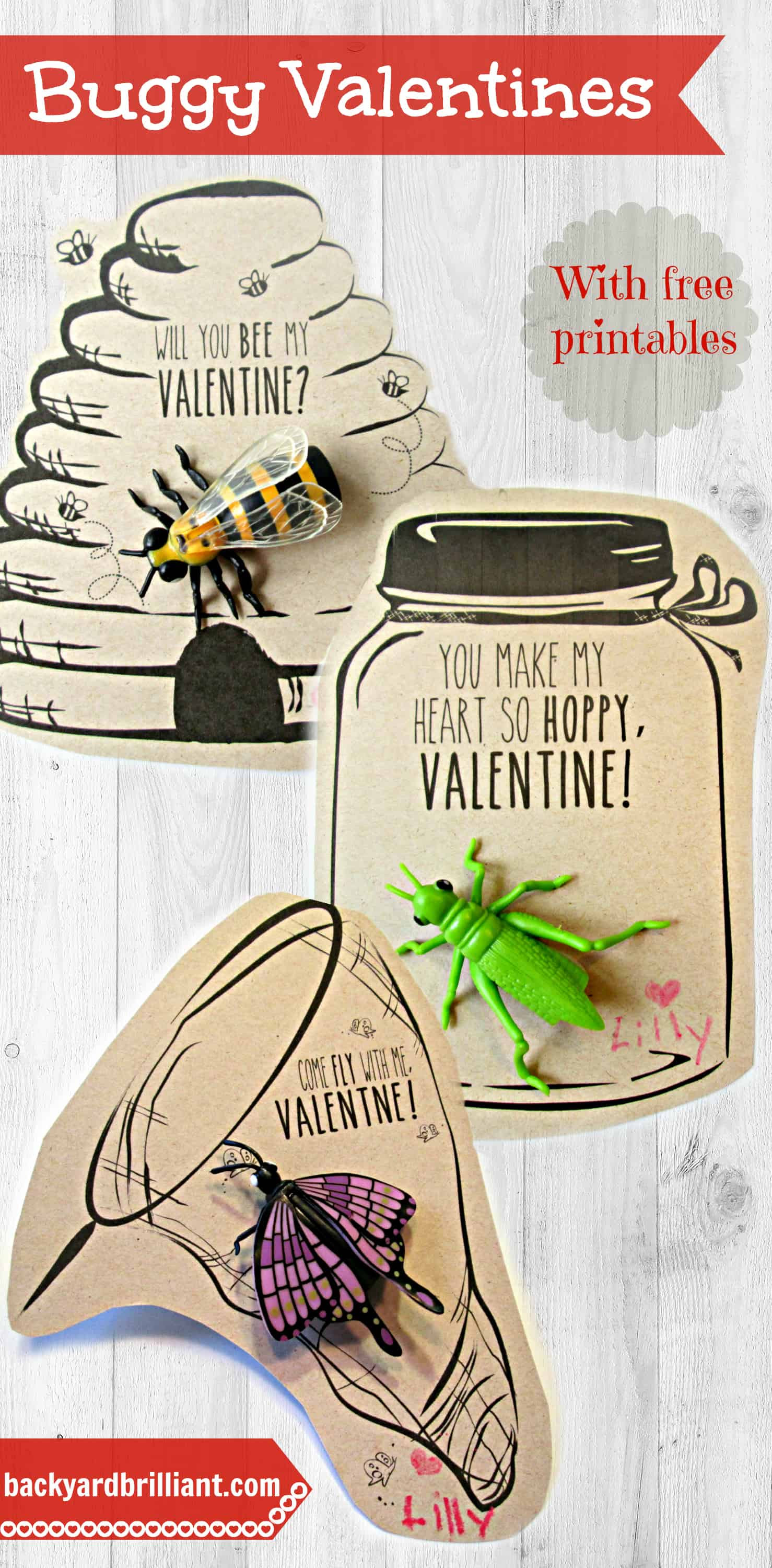 Homemade Valentines with Free Printables