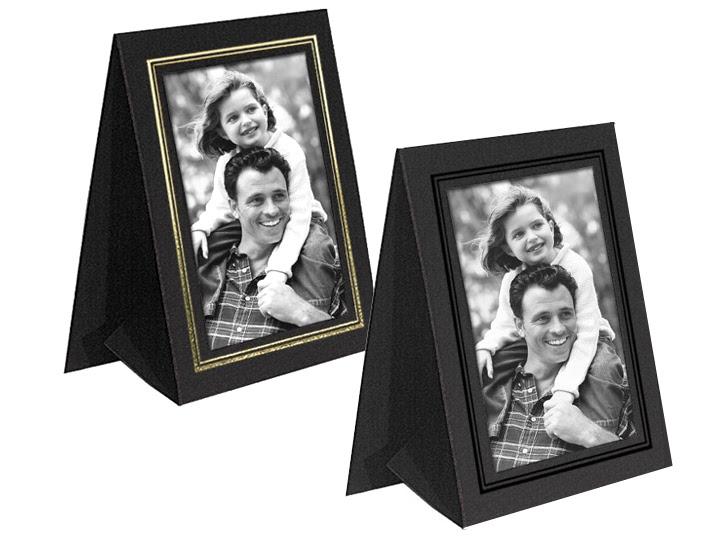 Grandeur Easel Frames 5x7 Vertical Wgold Border 25 Pack