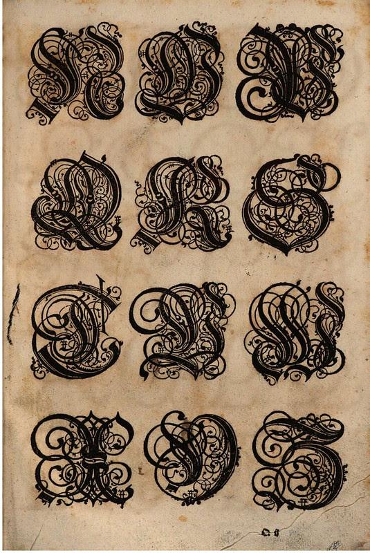 Paulus Franck - 'Schatzkammer Allerhand Versalien Lateinisch vnnd Teutsch', 1601 alphabet a