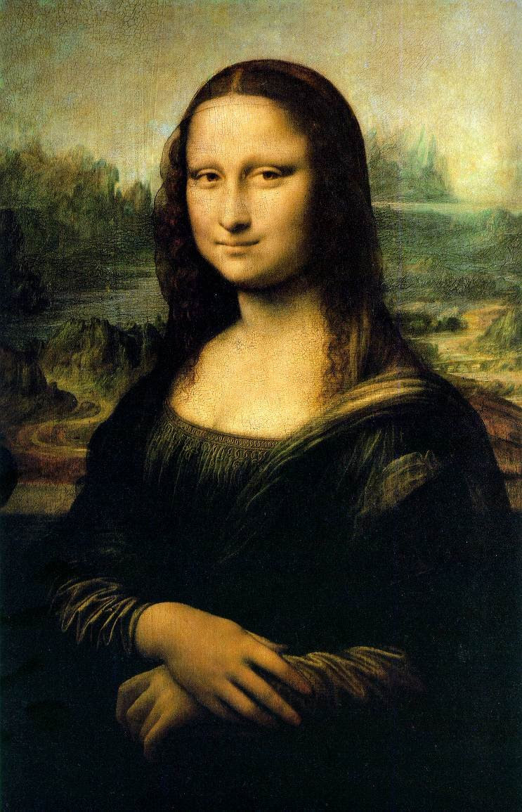 Coloriage La Joconde Léonard De Vinci