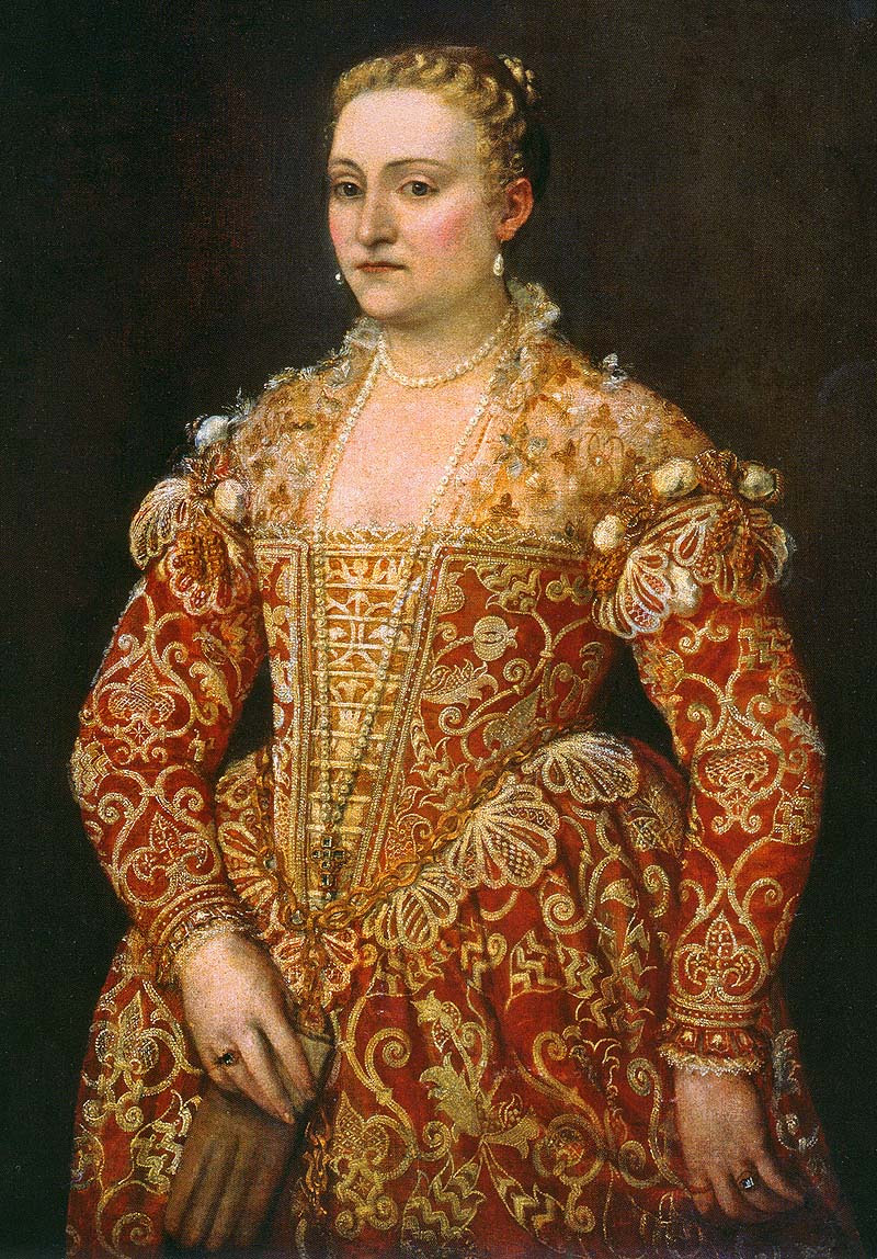 Paolo Caliari Veronese Portrait of a Woman Holding Gloves