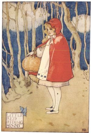 English: Little Red Riding Hood