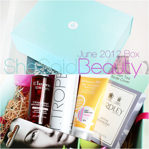 She Said Beauty June 2012 Box