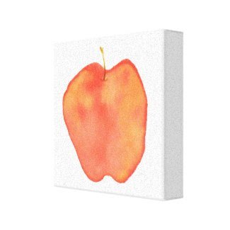 Watercolor Apple wrappedcanvas