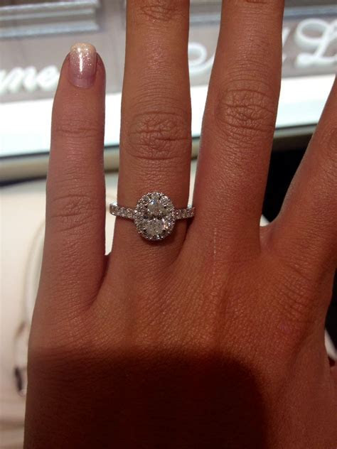 Neil lane oval engagement ring. Ugh I just love this so