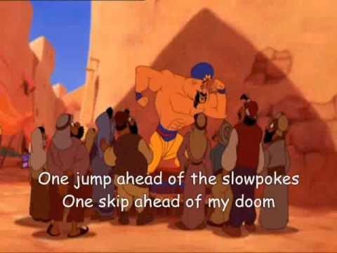 Aladdin One Jump Ahead Lyrics Youtube