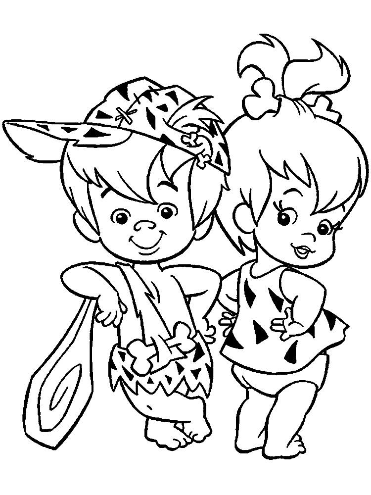Los Picapiedra Dibujos Animados Infantiles Para Colorear