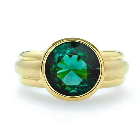 Round Green Tourmaline Ring   JM Edwards Jewelry
