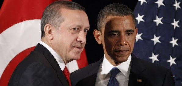Turkish President Recep Tayyip Erdogan with President Obama