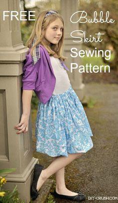 Free Bubble Skirt Sewing Pattern | DIY Crush