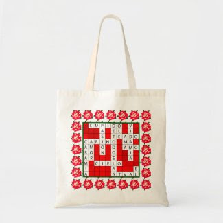 Love Crossword in Spanish on Tote Bag
