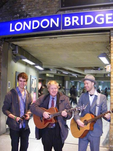 Boris launches busking competition at London Bridge Tube