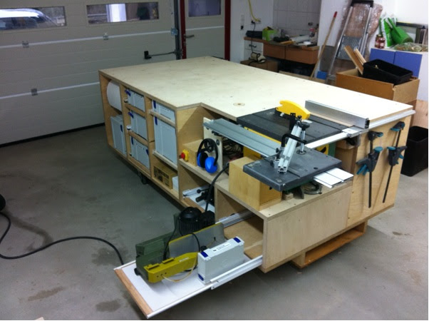Information Rolling Table Saw Plans