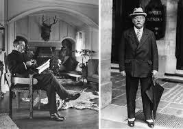 Above: Sir Arthur Conan Doyle