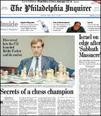 It's Out: The Bobby Fischer Story appears today !!